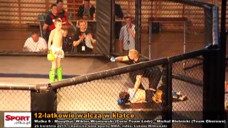 MMA w Rawiczu: Brutalne walki 12-latków w klatce