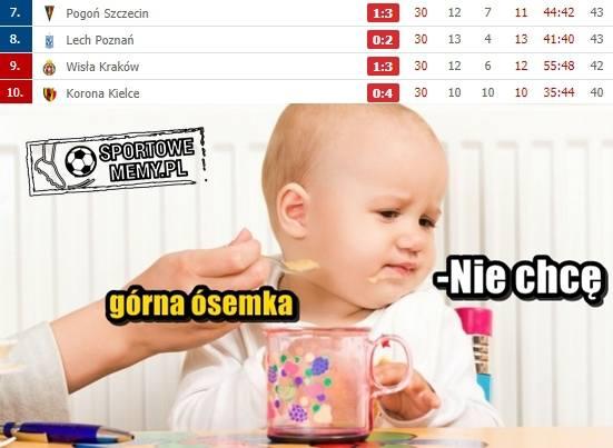 "Memy po 30. kolejce Lotto Ekstraklasy. ""Nikt nie chce do grupy mistrzowskiej"" [GALERIA]"