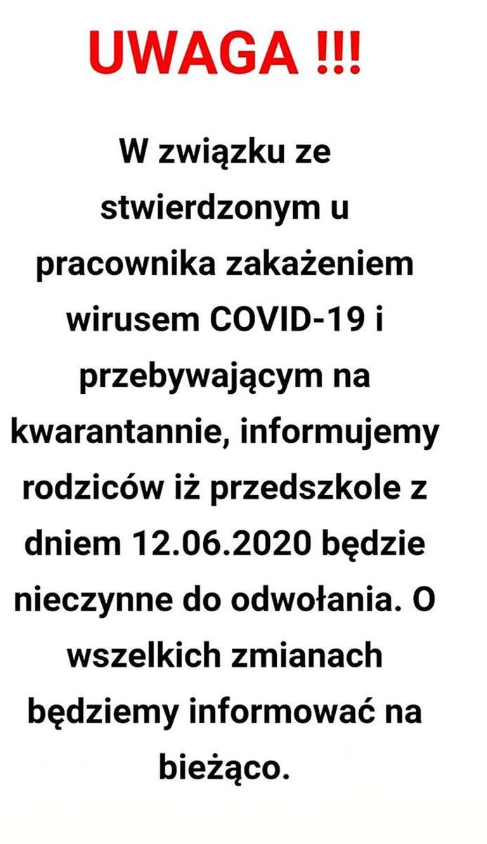 Koronawirus w Przedszkolu Samorządowym nr 51