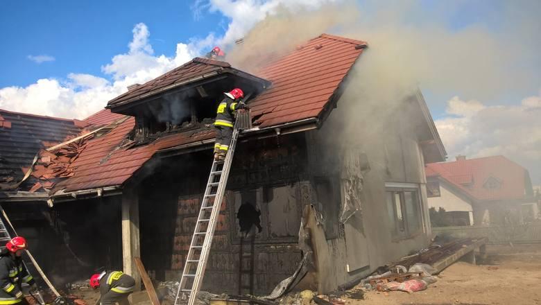 Białystok. Pożar na Nowym Mieście. Spłonął dom przy ul. Łodzińskiego