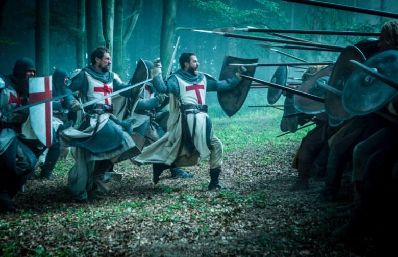 "Kadrz serialu ""Knightfall"" o templariuszach"