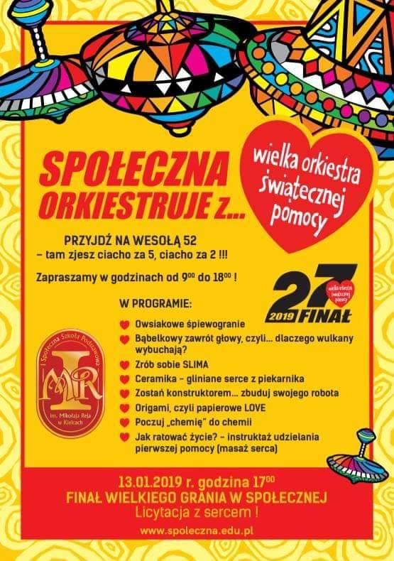 27. Finał WOŚP w Kielcach. Ciekawie też poza głównymi scenami [PROGRAM WYDARZEŃ TOWARZYSZĄCYCH]