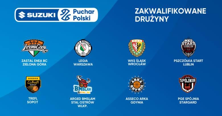 Wiemy już, które drużyny zagrają w Lublinie w turnieju finałowym Suzuki Pucharu Polski w koszykówce mężczyzn