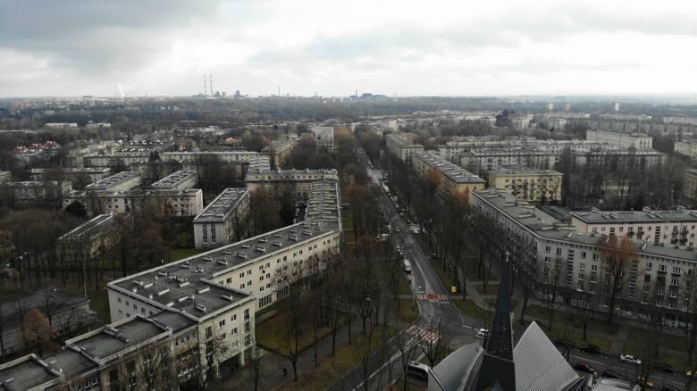 """Nowa Huta, czyli """"idealne miasto"""" z lotu ptaka [GALERIA]"""