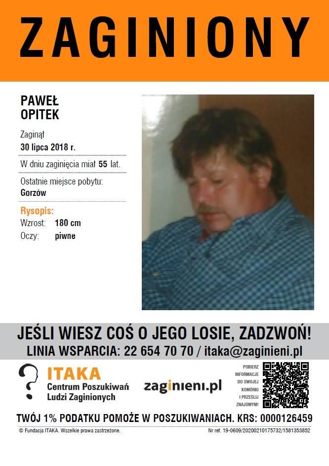 ZAGINĄŁ Paweł Opitek. Zaginiony może przebywać w Szczecinie. Poszukiwania prowadzi fundacja ITAKA