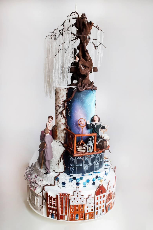 Pokazowy tort Jowity Woszczyńskiej, przygotowany na mistrzostwa świata w Mediolanie, mierzył 160 cm wysokości