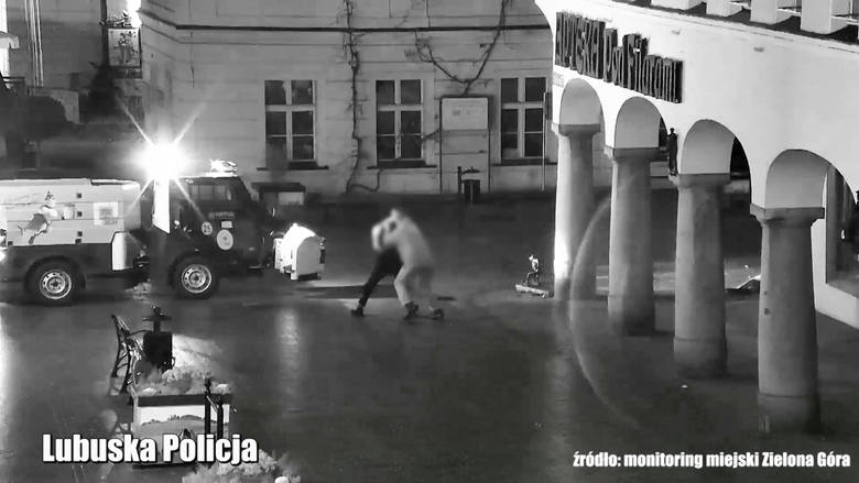 Zielonogórscy policjanci zatrzymali agresywnego mężczyznę, który rzucił się na przejeżdżającą piaskarkę, a następnie na pracownika Miejskiego Zakładu