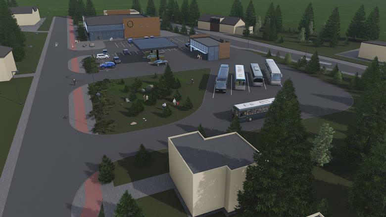 Tak ma w przyszłości wyglądać dworzec autobusowy -  z galerią handlową i stacją benzynową