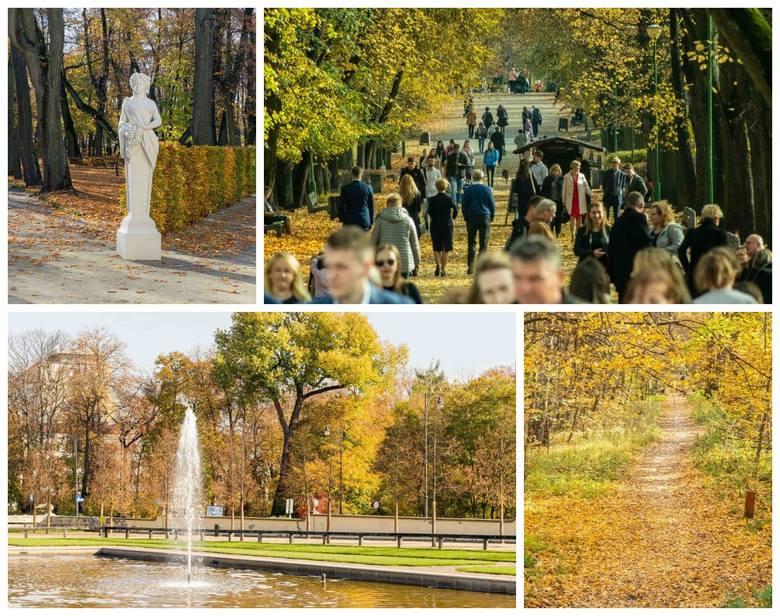 Złota polska jesień zawitała do Białegostoku. W parkach można zobaczyć mnóstwo spacerowiczów cieszących się z pięknej pogody. Zobacz, jak wyglądają Ogrody