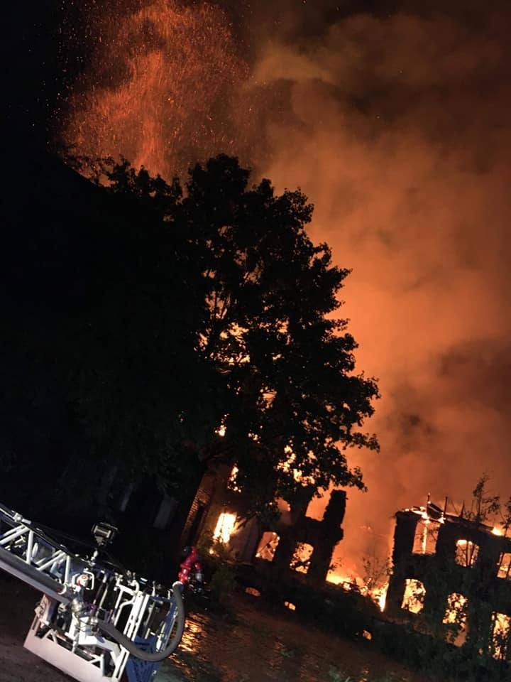 Pożar na ul. Kolejowej w Poznaniu