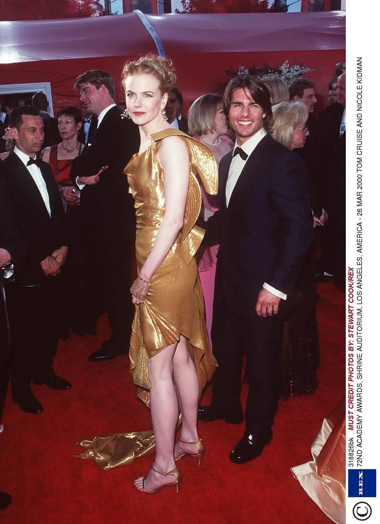 Nicole Kidman i Tom Cruise na 72. gali wręczenia Oscarów w 2000 r.