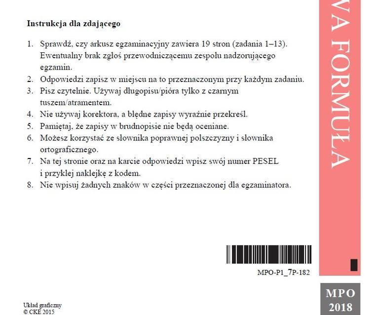 Matura 2018 - język polski, poziom podstawowy - arkusze i odpowiedzi