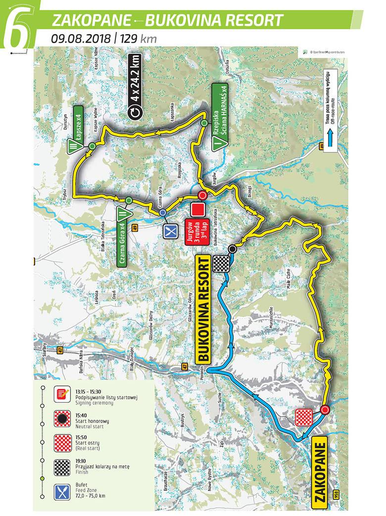 Tour de Pologne 2018: Etap 6 Zakopane - Bukovina: Resort Tutaj już nie ma mowy o płaskim terenie lub górkach. Tutaj liczy się już tylko siła i wytrzymałość,