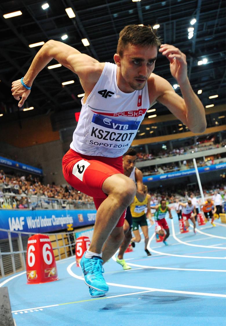 Adam Kszczot podczas 58. halowych mistrzostw swiata w lekkoatletyce