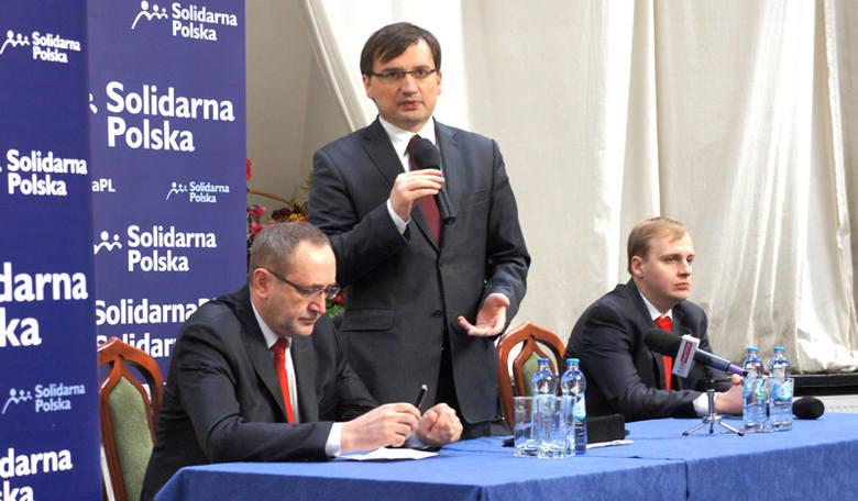 Zbigniew Ziobro w Białymstoku. Solidarna Polska prezentuje program (zdjęcia)