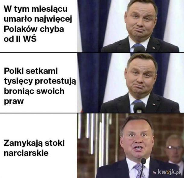 Prezydent Andrzej Duda załatwił otwarcie stoków narciarskich jednym telefonem - MEMY >>>