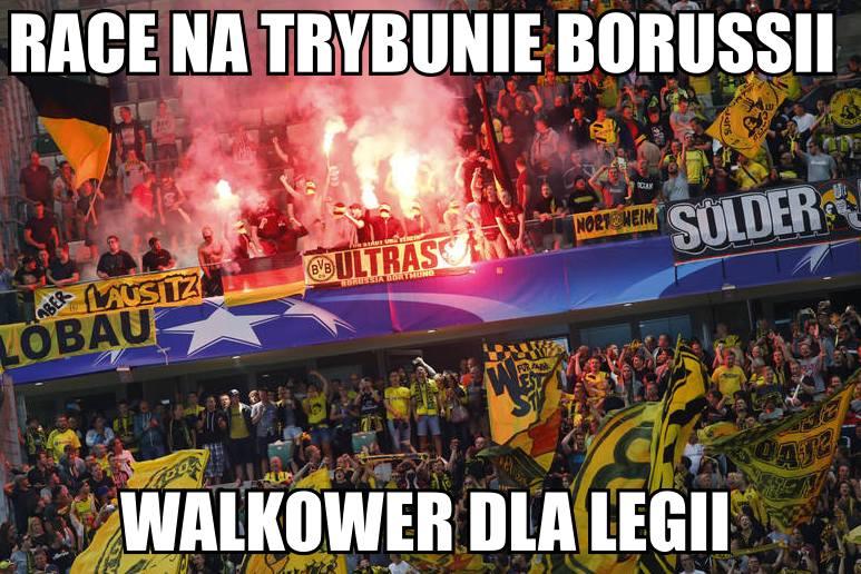 Memy po meczu Legia - Borussia: Niemcy na treningu, lepszy byłyby walkower [GALERIA]