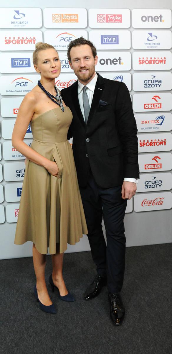 Bal Mistrzów Sportu. Na zdjęciu: Mariusz Czerkawski z żoną Emilią