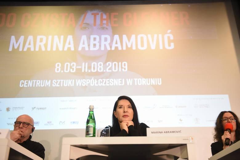 Marina Abramović na wernisażu w CSW