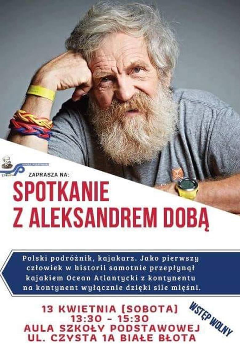 Aleksander Doba w szkole w Białych Błotach. Spotkanie już w sobotę (13 kwietnia), wstęp wolny