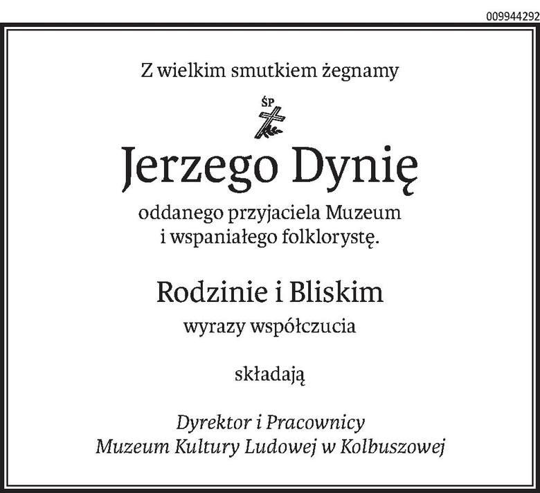 Nekrologi i kondolencje z dnia 13 listopada 2020 r.