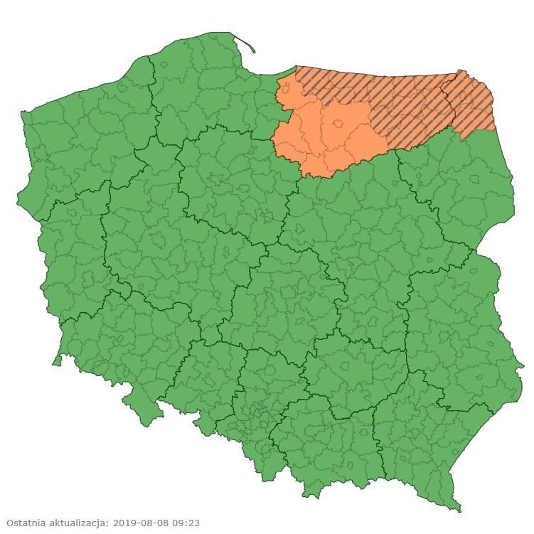 Gdzie Jest Burza Teraz W Polsce Radar Burz Sierpien 2019 Aktualna
