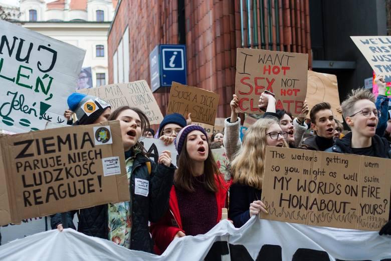 Młodzieżowy Strajk Klimatyczny w Krakowie