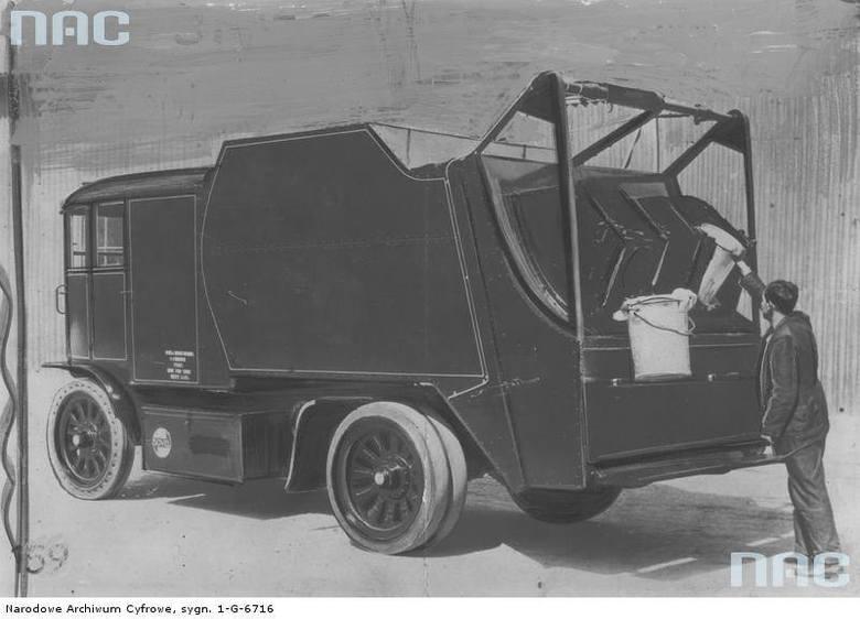 Śmieciarka typu Faun, Warszawa, 1937 rok