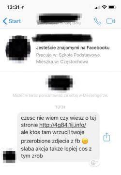 Znajomy ostrzega cię na Facebooku, że ktoś przerobił Twoje zdjęcia? Nie daj się na to nabrać! To może być scam!