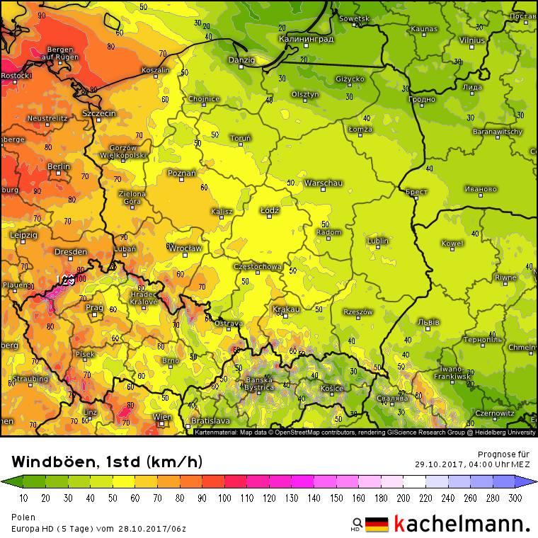 Orkan Grzegorz. Jak przejdzie przez Polskę? [MAPY, PROGNOZA]