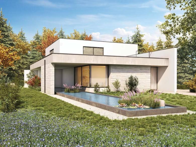 Dach płaski to jednocześnie dach i strop, stąd nazwa stropodach. Stropodachy pojawiają się często w projektach domów nowoczesnych, coraz chętniej wybieranych