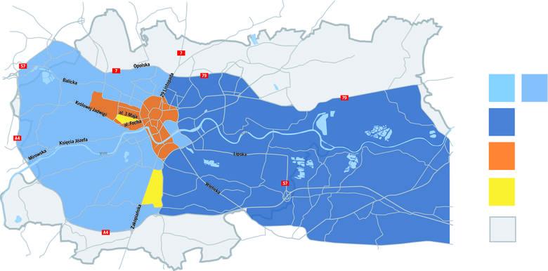 Obszar ograniczenia ruchu I<br /> - największe utrudnienia wystąpią od 26 lipca do 1 sierpnia. W tym czasie będzie obowiązywał w tej strefie wjazd tylko dla mieszkańców, komunikacji miejskiej, służb technicznych, zaopatrzenia w godz. 00.00-09.00, taxi (mają wyznaczone postoje), pojazdów za...