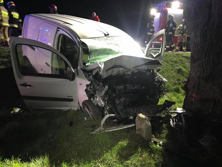Do zdarzenia doszło w poniedziałek około godz. 2.30 w nocy. Na drodze krajowej nr 77 w Duńkowiczkach pod Przemyślem kierowca osobówki zjechałz drogi