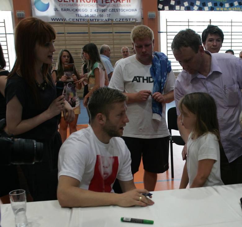 Spotkanie z dziećmi w hali sportowej w Olsztynie koło Częstochowy