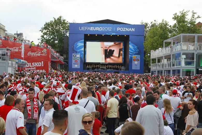 W 2012 roku strefa kibica była na Placu Wolności