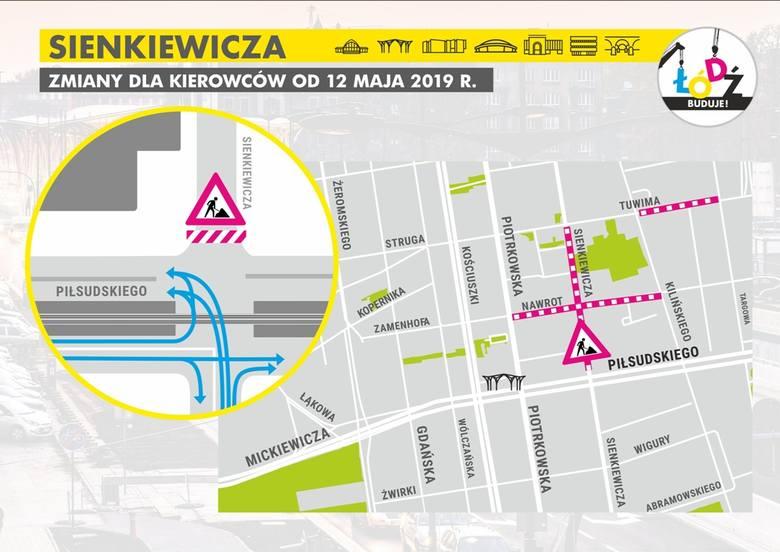Po zamknięciu ul. Sienkiewicza armagedon czeka kierowców w poniedziałkowy poranek i... przez kolejne miesiące [ZDJĘCIA, WIZUALIZACJE]