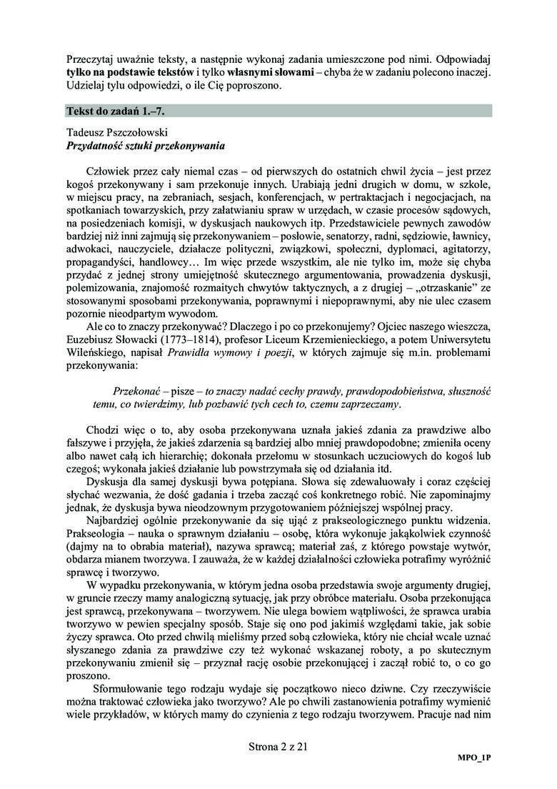 Zobacz arkusz z matury 2020 z języka polskiego na poziomie podstawowym oraz prawidłowe odpowiedzi. Uwaga, nasi eksperci na bieżąco dodają kolejne odpowiedzi