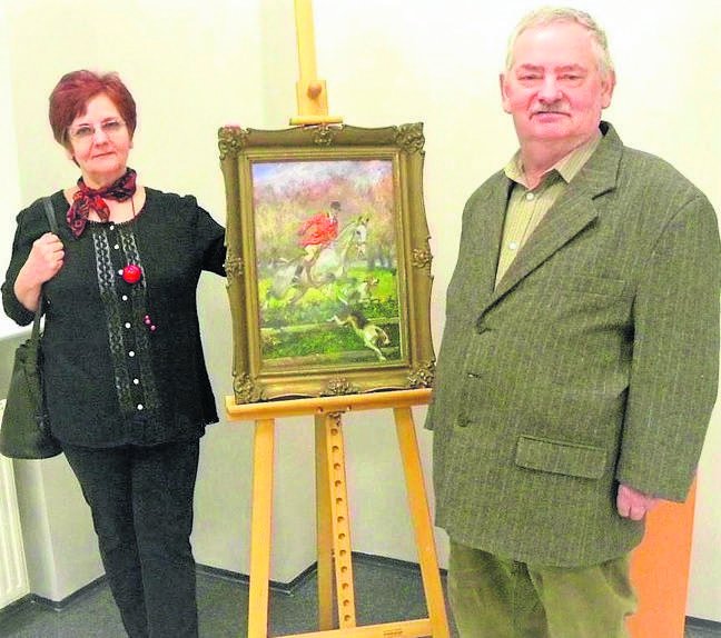 Ryszard Milczewski-Bruno (z lewej) i artysta  Leszek Przyjemski, rodem z Bydgoszczy.