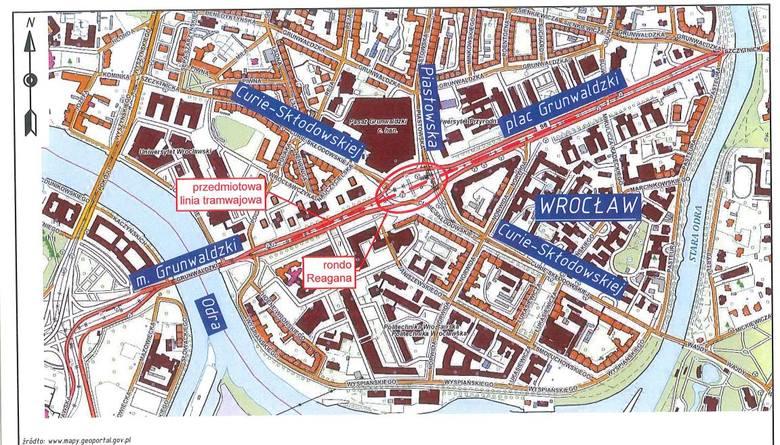 Do wyremontowania jest łącznie około 350 m torowisk na skrzyżowaniu ulic Piastowskiej, Curie-Skłodowskiej z placem Grunwaldzkim. Wszystkie prace będą