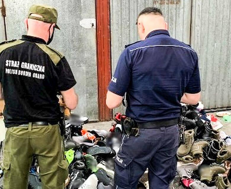 Policjanci i strażnicy graniczni na tropie podrabianej odzieży