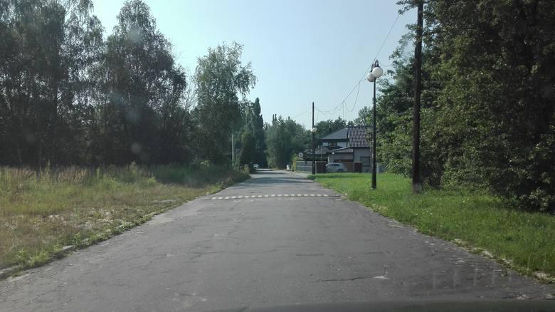 Z prawej Zabrze, z lewej Ruda Śląska - granica strefy zielonej i czerwonej