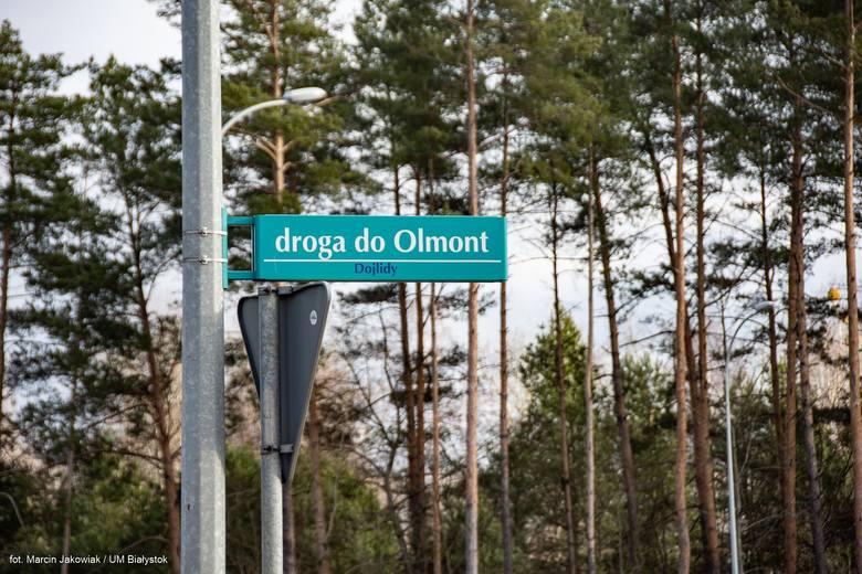 Asfaltowa droga do Olmont będzie przebudowana. Powstanie między innymi ścieżka rowerowa.