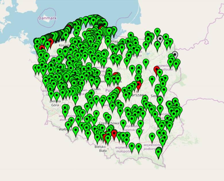 Sinice Bałtyk 20 lipca: MAPA SINIC + SINICE ZAMKNIĘTE KĄPIELISKA. Gdzie są sinice i jakie są skutki kontaktu z nimi.