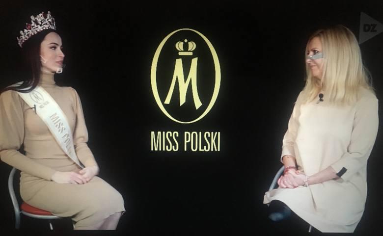Anna-Maria Jaromin z Katowic, Miss Polski 2020 była gościem Dziennika Zachodniego