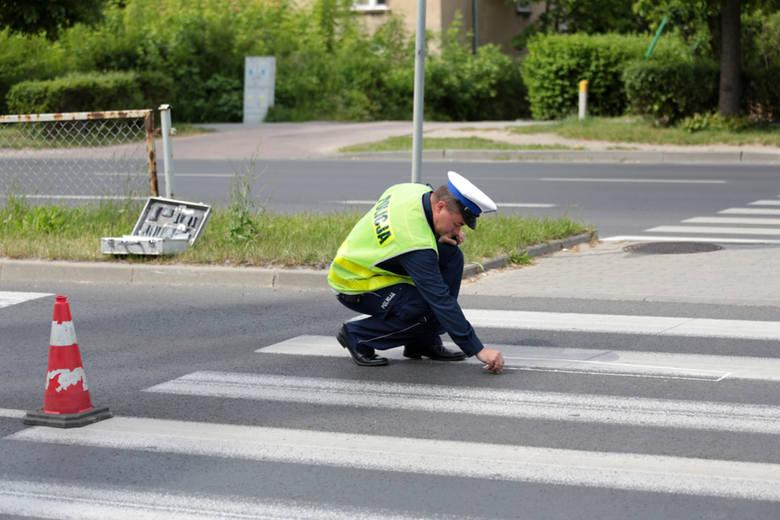 Kolejne potrącenie kobiety na przejściu dla pieszych w Zielonej Górze (zdjęcia)