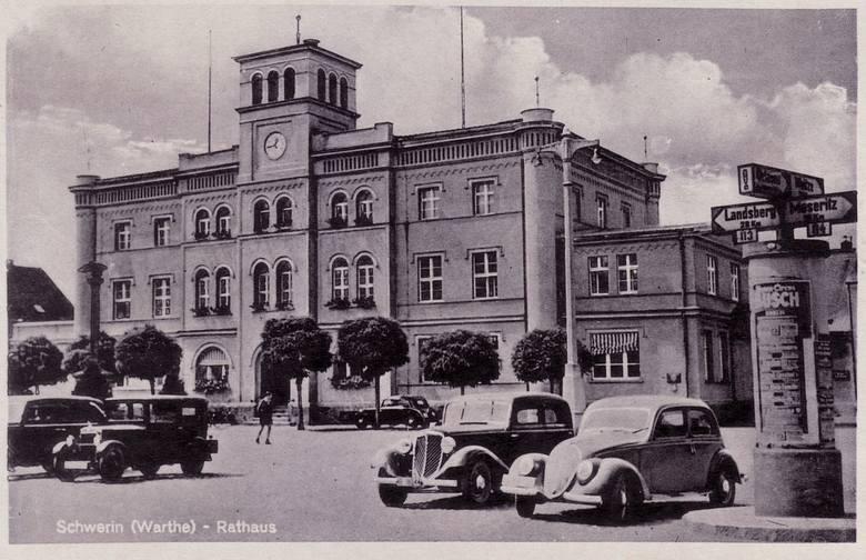 Rynek w Skwierzynie na początku lat 40. minionego wieku.