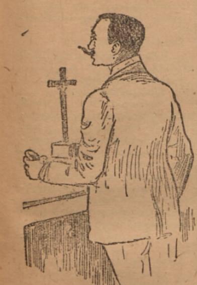 Rysunek przedstawiający Michała Zajączkowskiego
