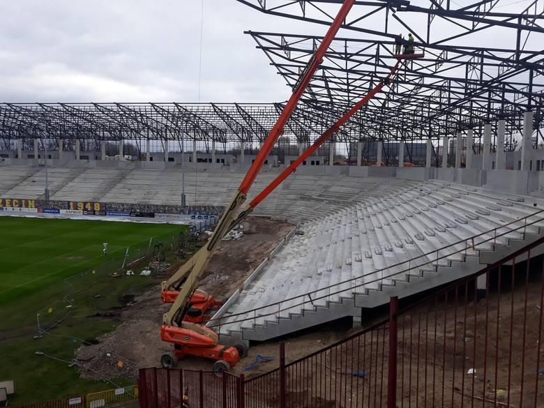 Stadion przy Twardowskiego - 7 lutego 2020.
