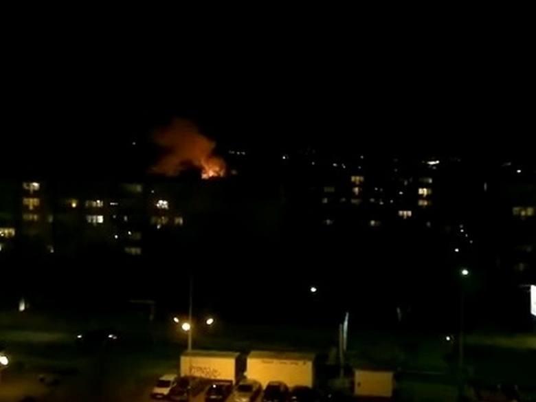 Pożar na osiedlu Zawadzkiego.