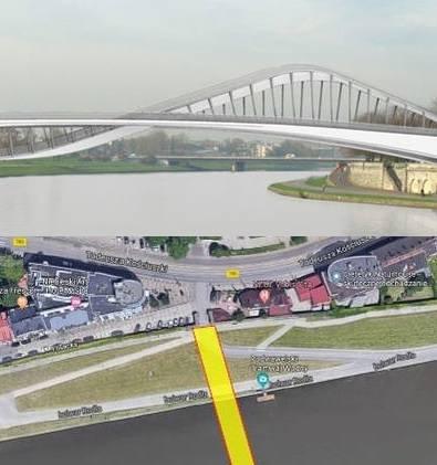 Kraków. Kładki dla rowerzystów i pieszych przez Wisłę bez zgody konserwatora. Propozycja w zamian: tramwaj wodny